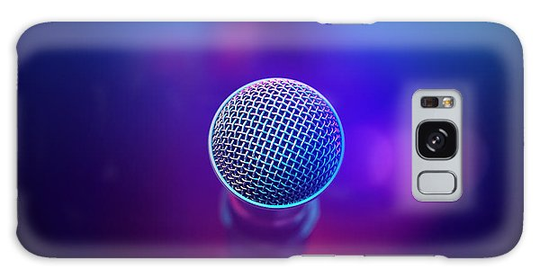 Musical Galaxy Case - Musical Microphone On Stage by Johan Swanepoel