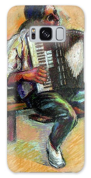 Musician With Accordion Galaxy Case