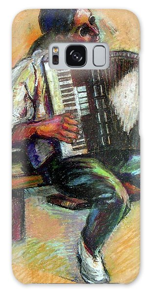 Musician With Accordion Galaxy Case by Stan Esson