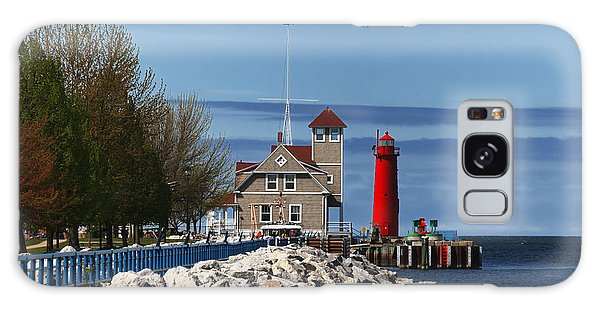 Muskegon Pierhead Light Galaxy Case