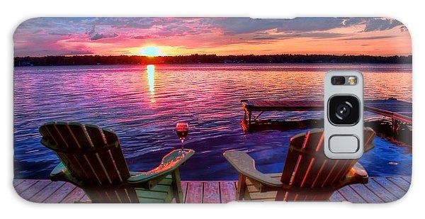 Galaxy Case featuring the photograph Muskoka Chair Sunset by Michaela Preston