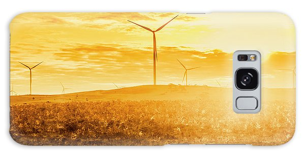 Wind Power Galaxy Case - Musselroe Wind Farm by Jorgo Photography - Wall Art Gallery