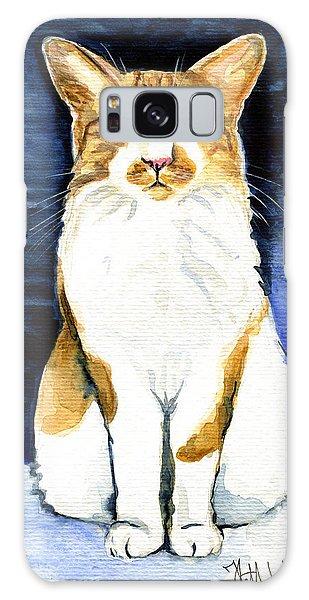 Mustached Bicolor Beauty - Cat Portrait Galaxy Case