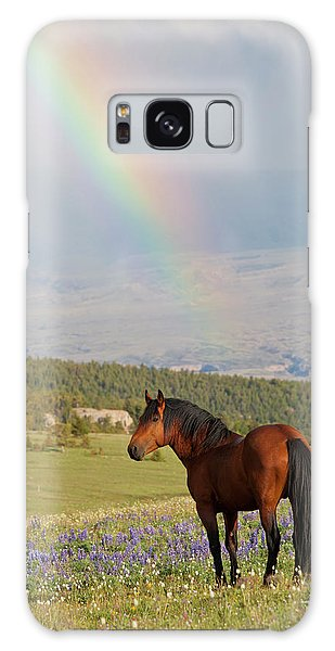 Mustang And Rainbow Galaxy Case