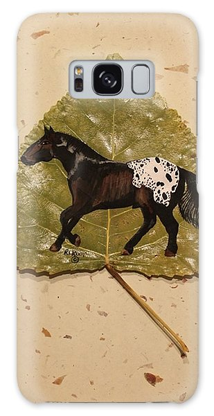 Mustang Appaloosa On Poplar Leaf Galaxy Case