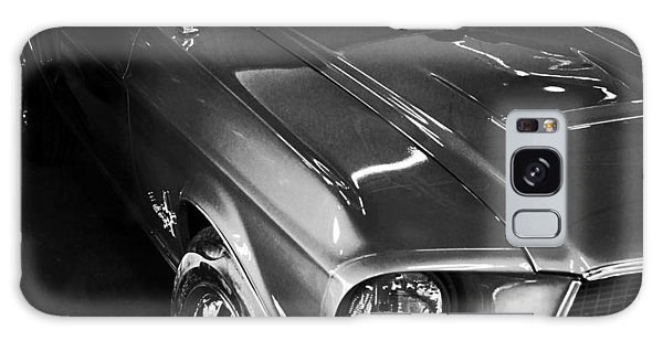 Mustang In Black And White Galaxy Case