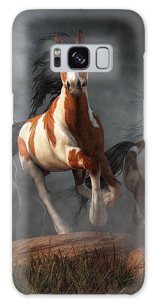 Mustangs Of The Storm Galaxy Case by Daniel Eskridge