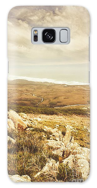 West Bay Galaxy Case - Muted Mountain Views by Jorgo Photography - Wall Art Gallery