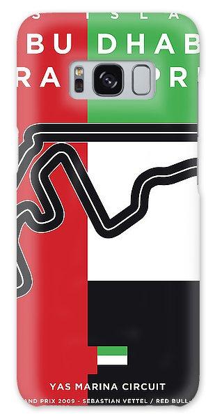 Marina Galaxy Case - My Abu Dhabi Grand Prix Minimal Poster by Chungkong Art