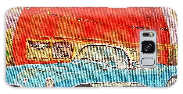 My Blue Corvette At The Orange Julep Galaxy Case by Carole Spandau