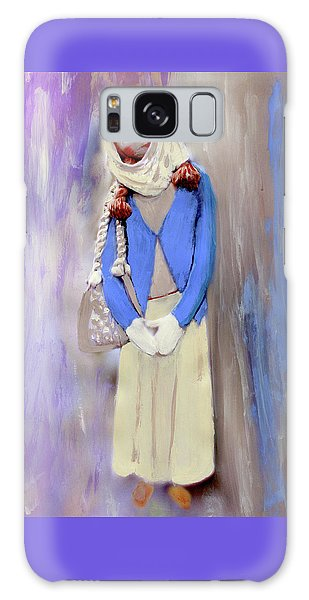 Galaxy Case featuring the painting My Bubba by Deborah Boyd