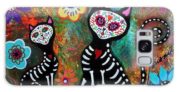My Cats Dia De  Los Muertos Galaxy Case