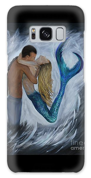 Galaxy Case featuring the painting My Dream Mermaid by Leslie Allen