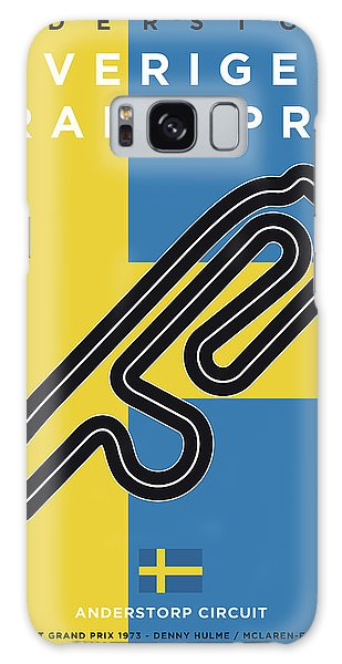 Sweden Galaxy Case - My F1 Anderstorp Race Track Minimal Poster by Chungkong Art