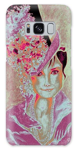 My Fair Audrey -- In Raspberry And Orange Galaxy Case