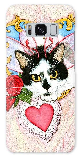 My Feline Valentine Tuxedo Cat Galaxy Case