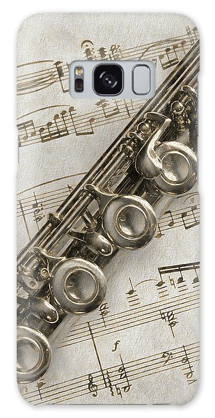 My Flute Photo Sketch Galaxy Case