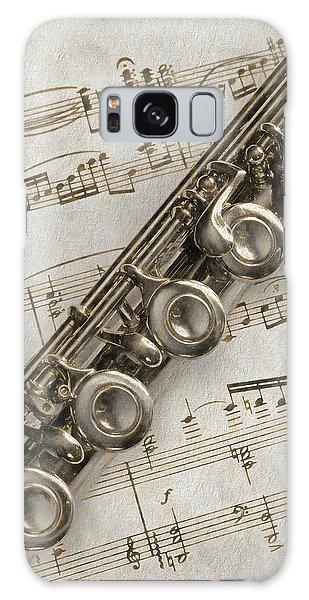 My Flute Photo Sketch Galaxy Case