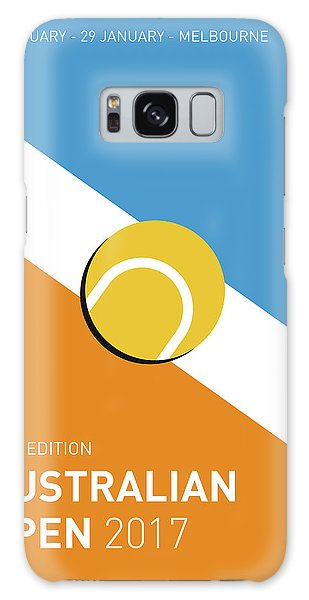 Tennis Galaxy S8 Case - My Grand Slam 01 Australian Open 2017 Minimal Poster by Chungkong Art