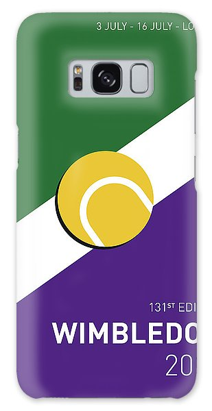 Tennis Galaxy S8 Case - My Grand Slam 03 Wimbeldon Open 2017 Minimal Poster by Chungkong Art