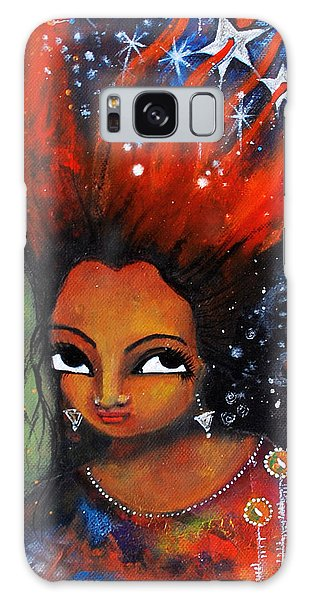 My Hair Is Being Pulled By The Stars  Galaxy Case by Prerna Poojara