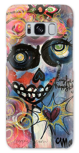 Galaxy Case featuring the painting My Heart Is So Happy To Know You by Laurie Maves ART