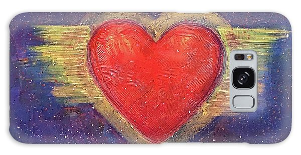 Galaxy Case featuring the painting My Heart My Strength by Laurie Maves ART