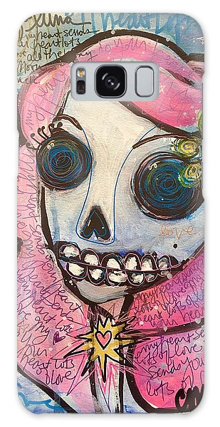 Galaxy Case featuring the painting My Heart Sends Your Heart Lots Of Love by Laurie Maves ART