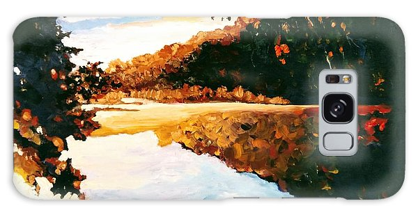 Galaxy Case featuring the painting My Horizon by Ray Khalife