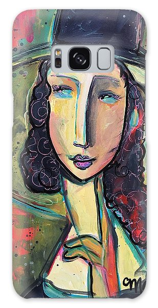 Galaxy Case featuring the painting My Love Lies In Livorno by Laurie Maves ART