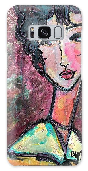 Galaxy Case featuring the painting My Love Lies In Venezia by Laurie Maves ART