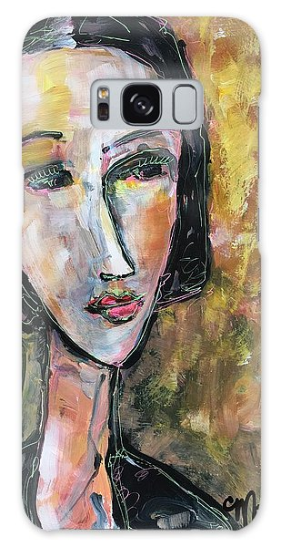Galaxy Case featuring the painting My Love Lies On The Amalfi by Laurie Maves ART