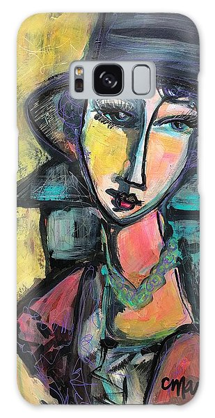 Galaxy Case featuring the painting My Love Lies With Florence by Laurie Maves ART