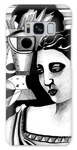 My Outing With A Young Woman By Picasso Galaxy Case