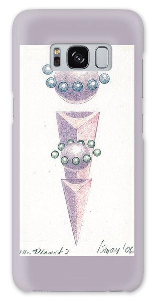 Galaxy Case featuring the drawing My Planet X's 2 by Rod Ismay