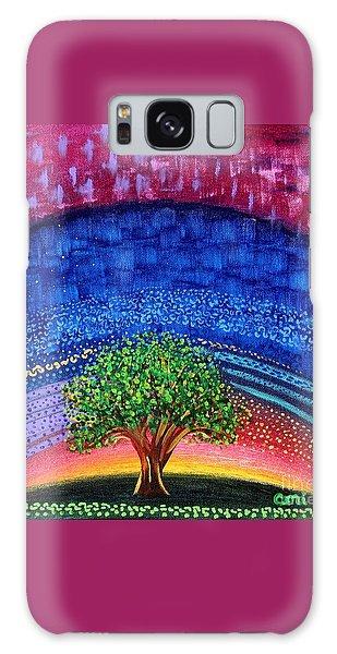 Tree At Nightfall Galaxy Case