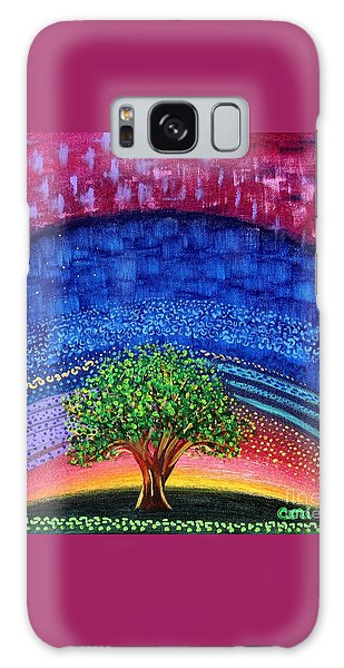 Tree At Nightfall Galaxy Case
