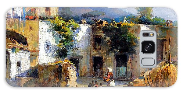 Galaxy Case featuring the painting My Uncle Farm House by Rosario Piazza