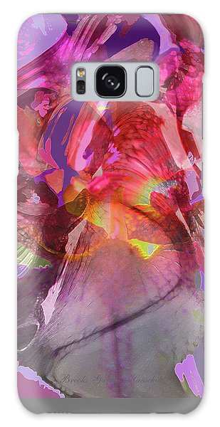 My Wild Iris Glows - Floral Abstract - Photography Galaxy Case