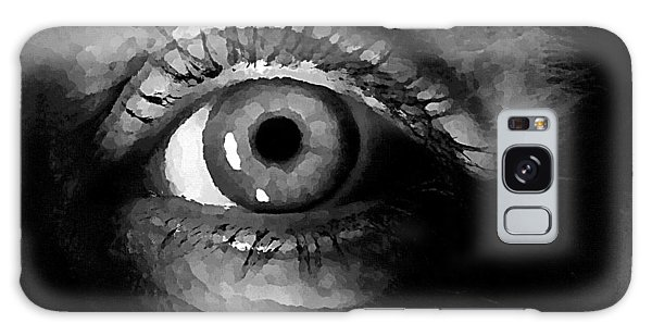 Galaxy Case featuring the digital art My Window In Bw by Shelli Fitzpatrick