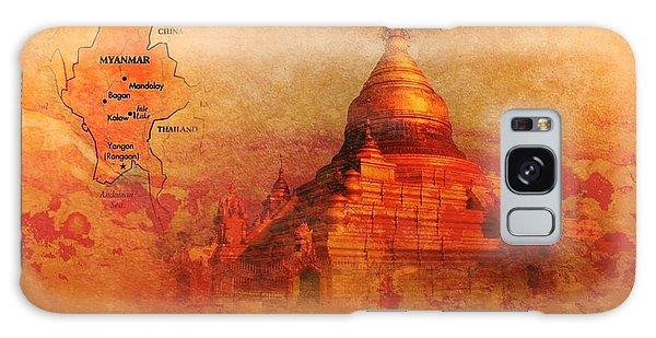 Myanmar Temple Kutho Daw Pagoda Galaxy Case by John Wills
