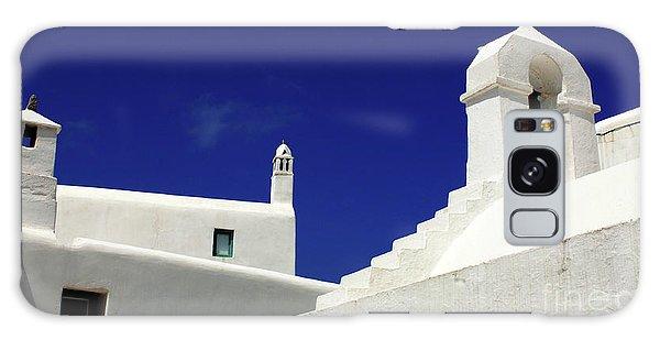Mykonos Greece Architectual Line 5 Galaxy Case by Bob Christopher