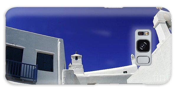 Mykonos Greece Clean Line Architecture Galaxy Case by Bob Christopher