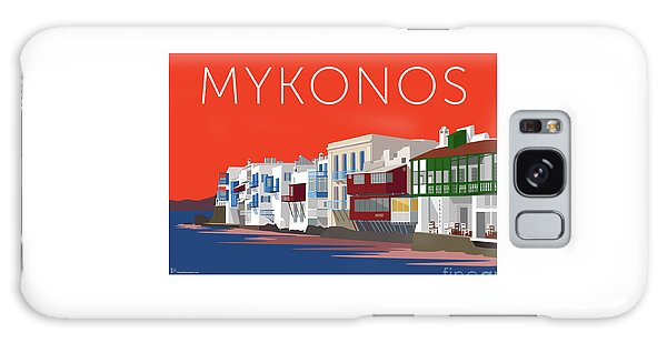 Mykonos Little Venice - Orange Galaxy Case