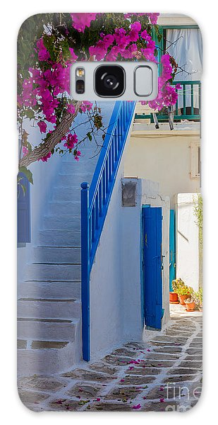 Windmill Island Galaxy Case - Mykonos Staircase by Inge Johnsson