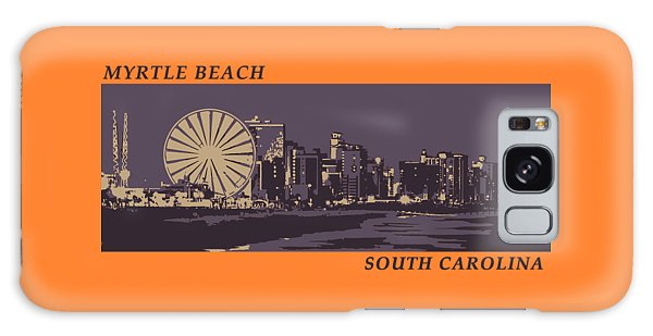 Galaxy Case featuring the digital art Myrtle Beach, Sc Skyline by Jennifer Hotai