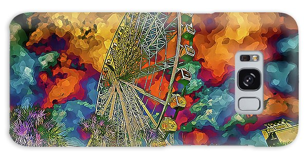 Galaxy Case featuring the photograph Myrtle Beach Skywheel Abstract by Bill Barber