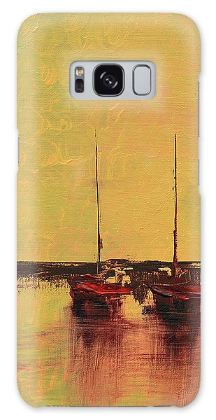 Mystic Bay Triptych 2 Of 3 Galaxy Case