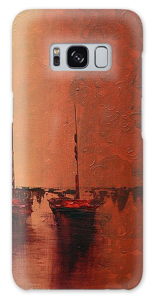 Mystic Bay Triptych 3 Of 3 Galaxy Case