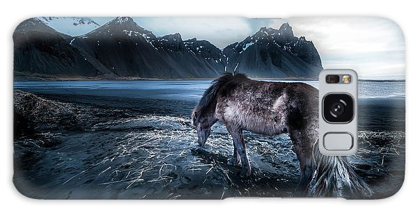 Atlantic Ocean Galaxy Case - Mystic Icelandic Horse by Larry Marshall